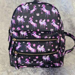 Unicorn & Kitty Mini Backpack Bag